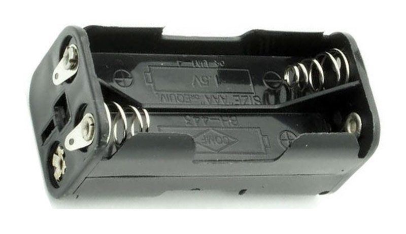 Držák baterie 4xR03/AAA/UM4 s pájecími očky