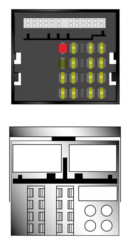 Kabeláž pro HF PARROT/OEM VW MOST konektor 2004-11/2010