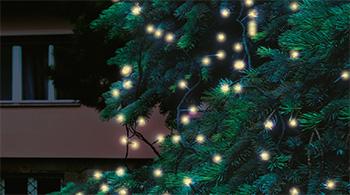 LED světelný řetěz, 20m, 200 LED, teplá bílá, spojovatelný