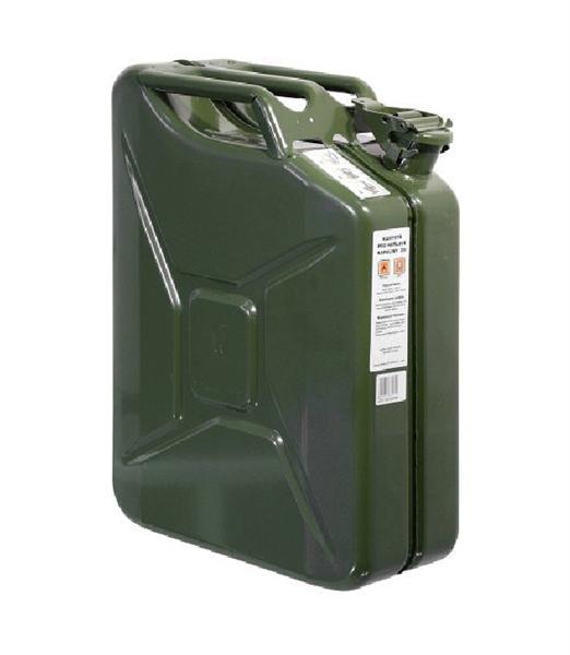 Kanystr ocelový na pohonné hmoty 20l zelený