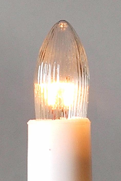Žárovka čirá 34V/3W pro 7-mi ramenný svícen