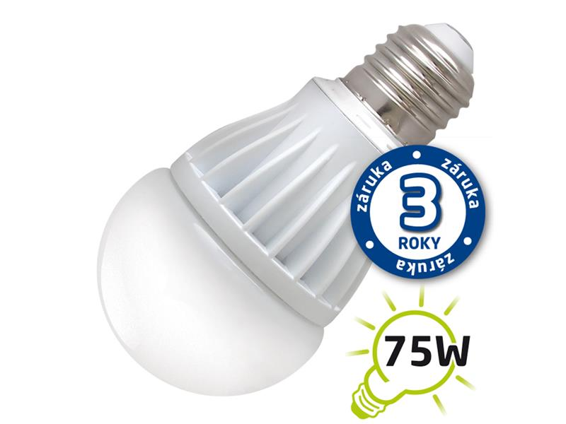 Žárovka LED A60 E27 12W bílá přírodní (Al) TIPA