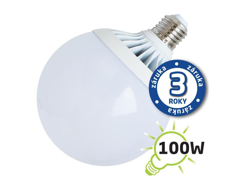 Žárovka LED G120 E27 18W bílá teplá (Al) TIPA