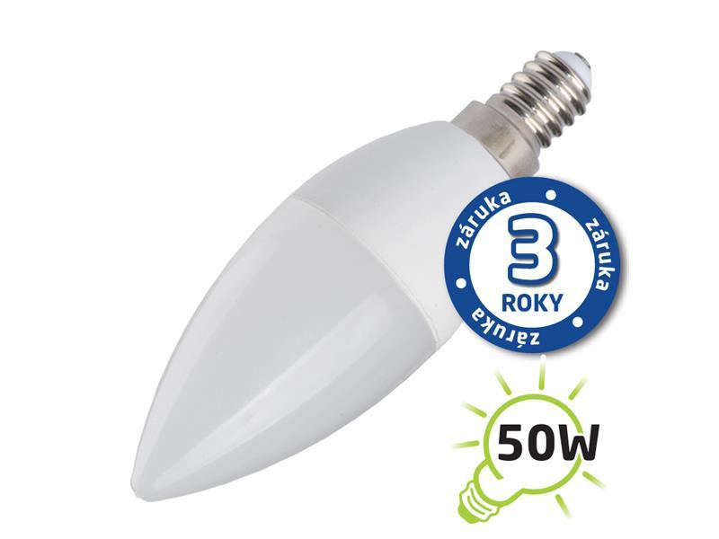 Žárovka LED C37 E14 7W bílá studená (Pc) TIPA