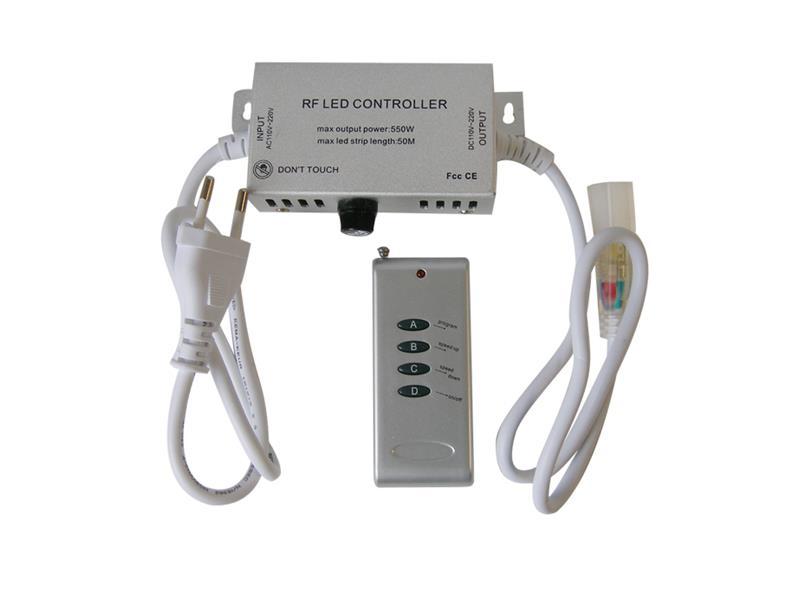 RGB kontroler pro LED pásky 230V + ovladač