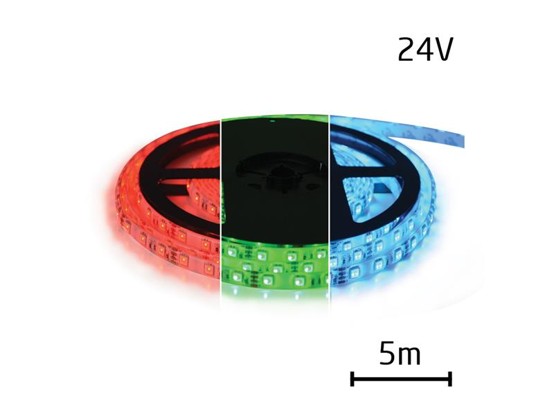LED pásek 24V 5050 60LED/m IP65 max. 12W/m RGB (1ks=cívka 5m) zalitý