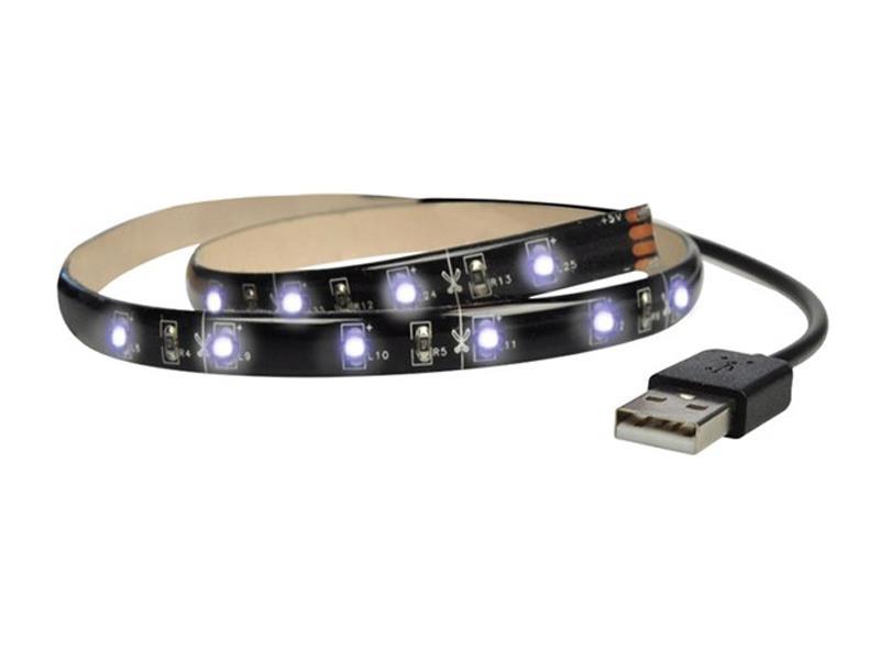 LED pásek pro TV, 2x60cm, USB, vypínač, studená bílá WM502 SOLIGHT