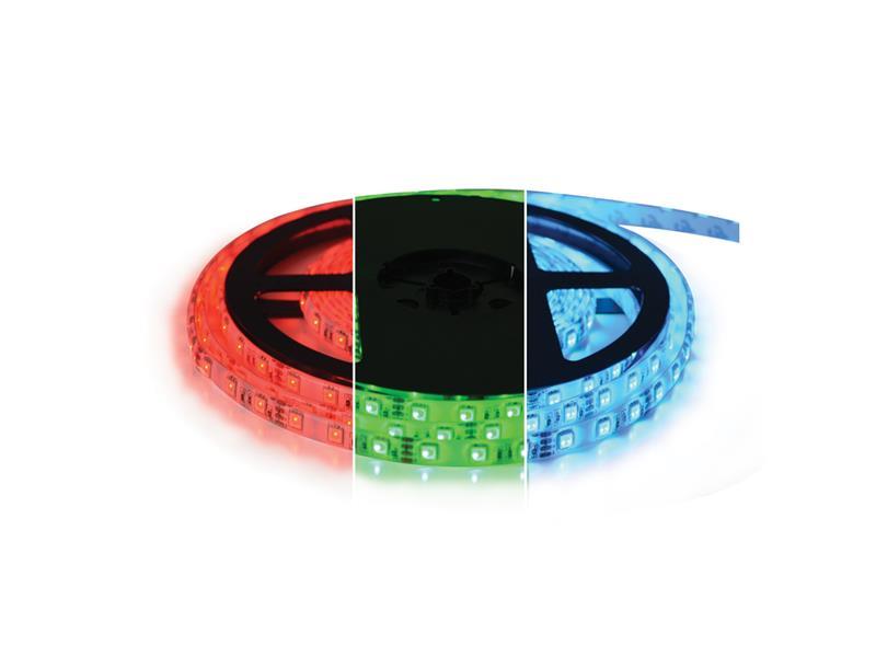 LED pásek 12V 5050 60LED/m IP20 max. 12W/m RGB, magnetický (1ks=cívka 5m)