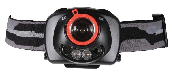 Svítilna čelová LED 1W+2 /3xAAA, IR čidlo+fokus