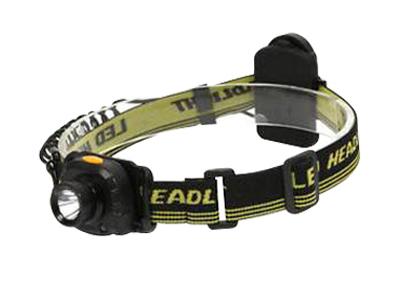 Solight čelová LED svítilna se senzorem, 3W Cree, černá, 3 x AAA WH20