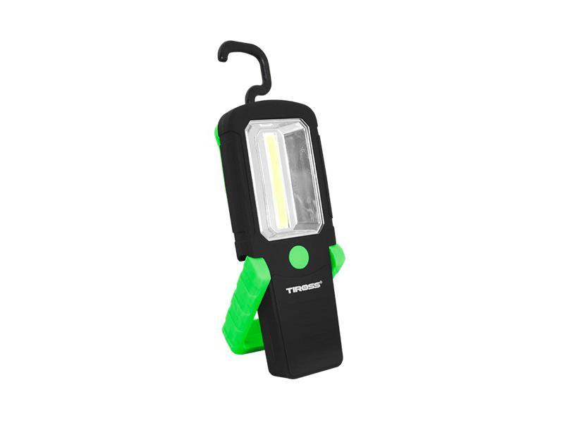 Svítilna ruční TIROSS TS-1837 1 COB, 3x AAA zelená