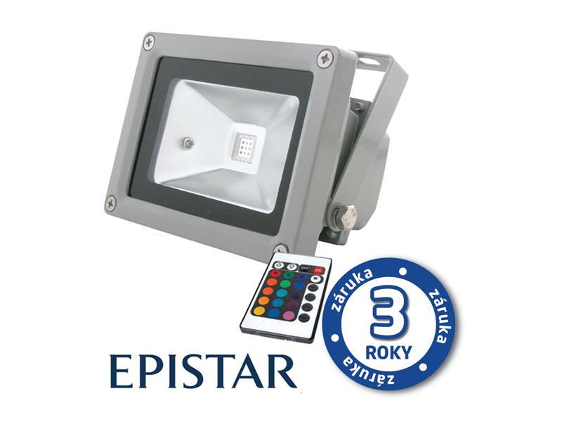LED reflektor venkovní 20W RGB EPISTAR, MCOB, AC 230V, šedý