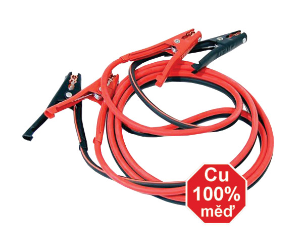 Kabely startovací 400 A 3m 100% měď ZIPPER BAG
