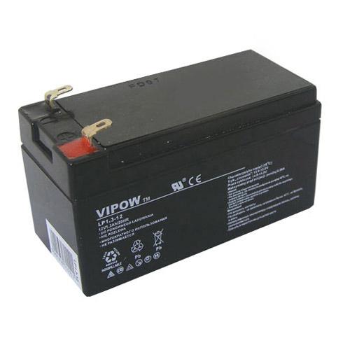 Baterie olověná 12V/ 1.3Ah VIPOW bezúdržbový akumulátor
