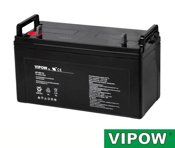 Baterie olověná 12V/120Ah VIPOW bezúdržbový akumulátor