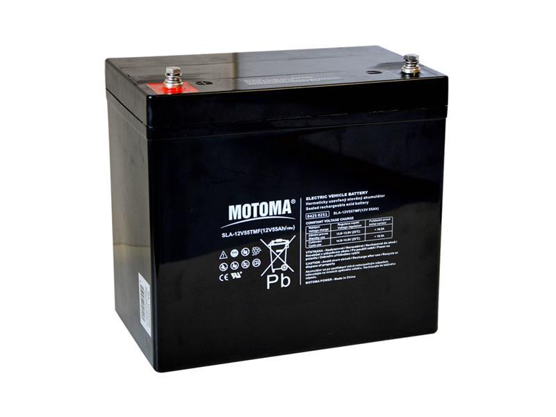 Baterie olověná 12V/55Ah MOTOMA pro elektromotory