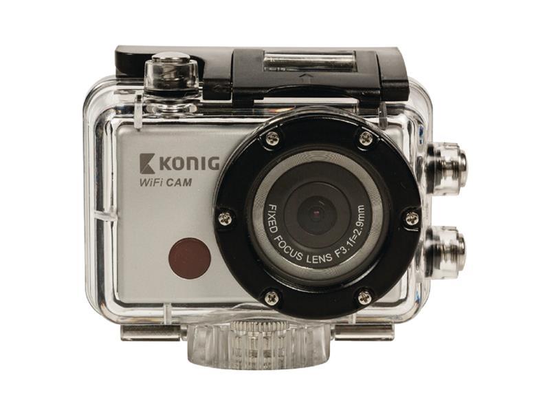 Kamera akční Full HD 1080p, WiFi, voděodolná 30m KÖNIG CSACW100