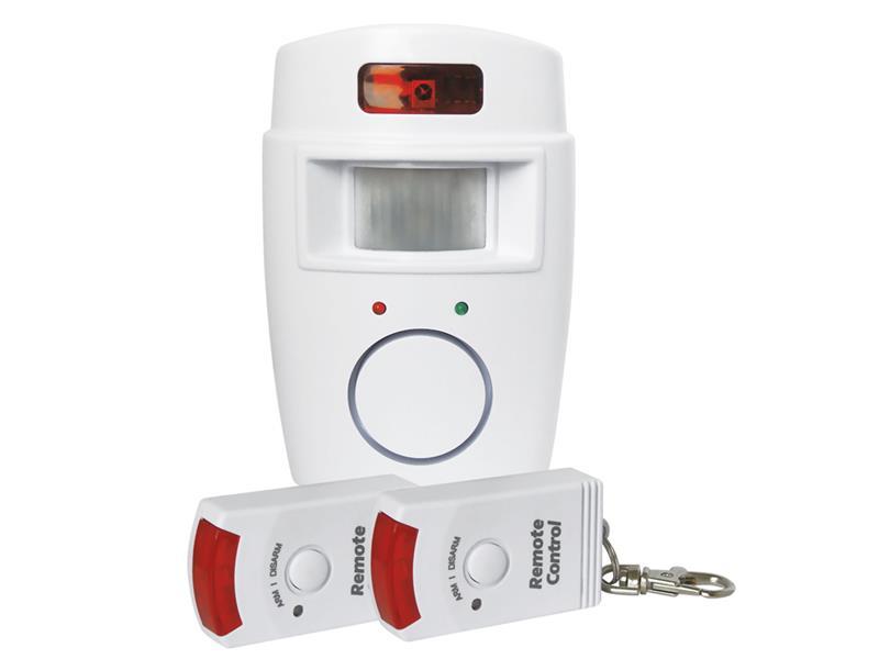 Nástěnný alarm s PIR a 2x dálkovým ovládáním