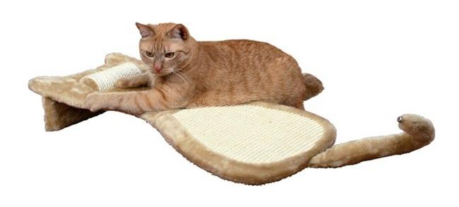 Škrábadlo TRIXIE tvar kočky s otočným válcem 34 x 67 x 11 cm