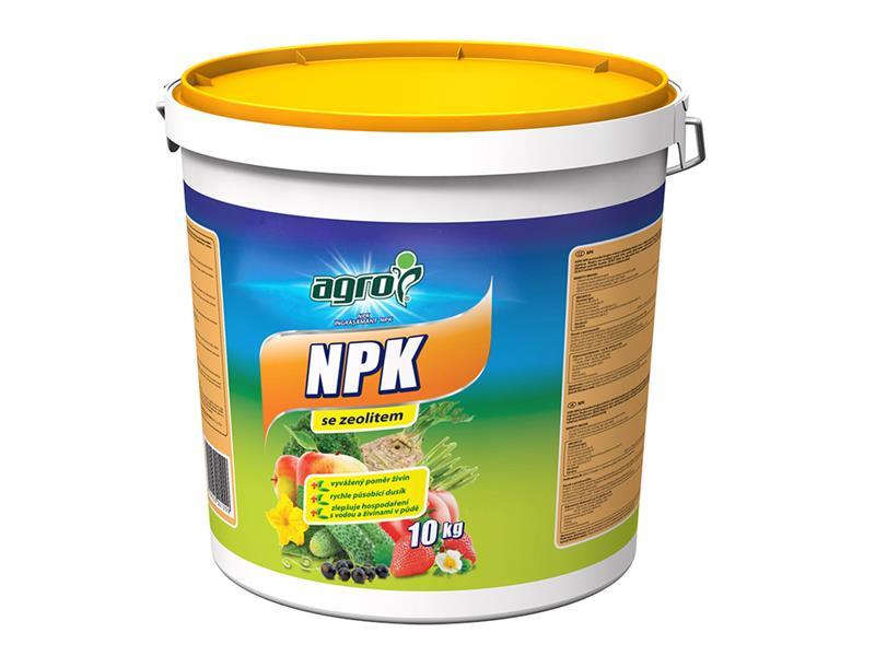 Hnojivo minerální AGRO NPK 11-7-7 se zeolitem 10kg kbelík