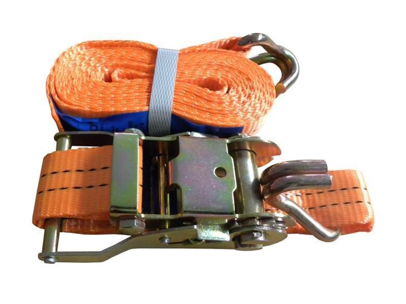 Popruh upínací s ERGO ráčnou a hákem, 10m/5T/50mm, GEKO