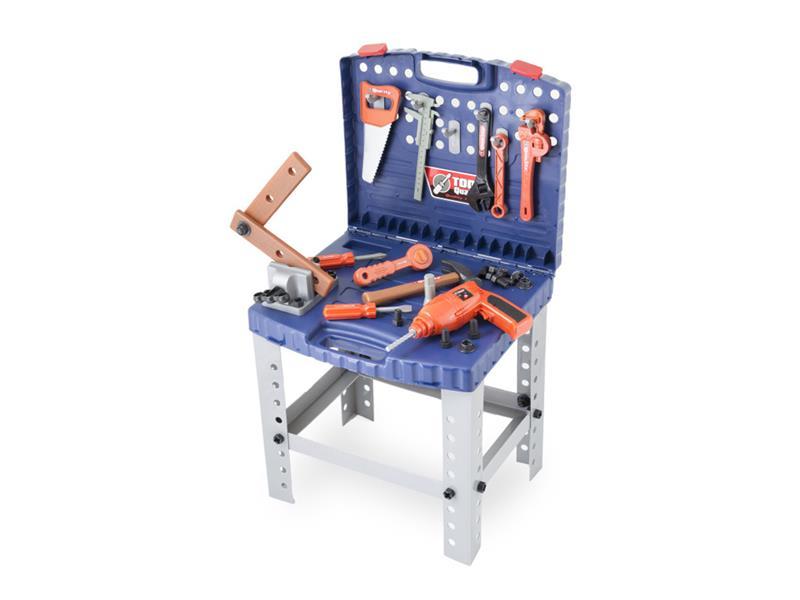 Kufřík dětský G21 s nářadím a pracovním stolem
