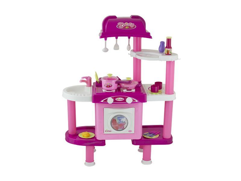 Kuchyňka dětská G21 s příslušenstvím růžová II.