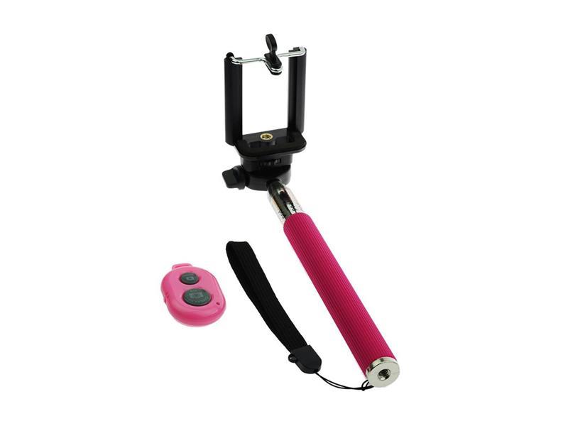Držák - tyč pro focení selfie - růžový