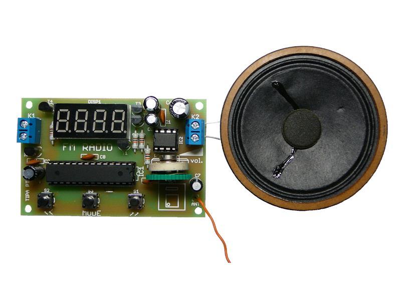 Stavebnice TIPA PT062 FM rádio s LED displejem