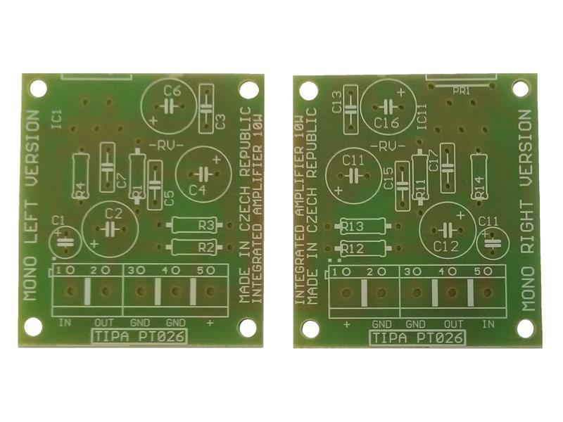 Plošný spoj TIPA PT026S Integrovaný zesilovač 2x10W