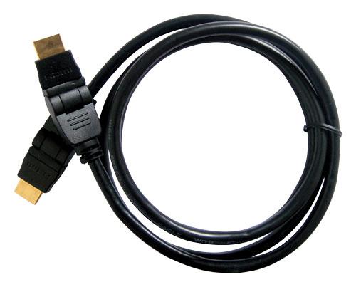 Kabel HDMI - HDMI 2m (gold-otočné,ethernet)