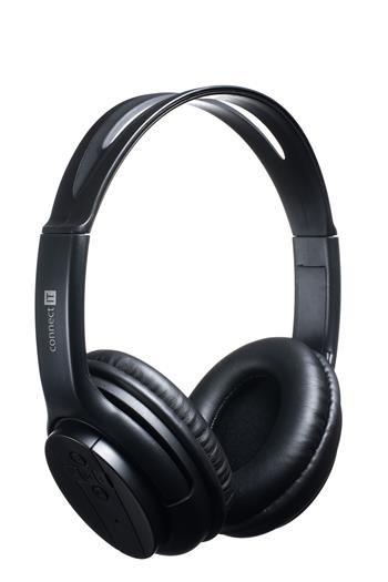 CONNECT IT bluetooth stereo sluchátka s mikrofonem, černé