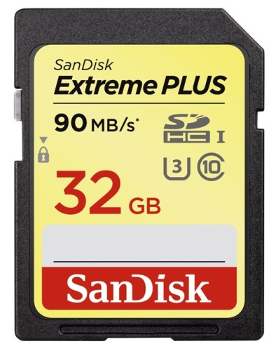 SanDisk Extreme Plus SDHC 32 GB 90 MB/s Class 10 UHS-I