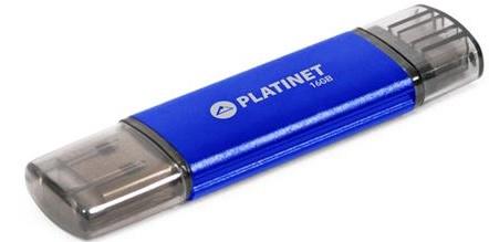 PLATINET ANDROID PENDRIVE USB 2.0 AX-Depo 16GB + microUSB - modrý
