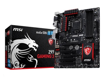 MSI Z97 GAMING 3, 1150, Z97, 4xDDR3, M.2, 2xPCI-Ex16, 2xPCI-Ex1,SATA3, USB3.0, ATX
