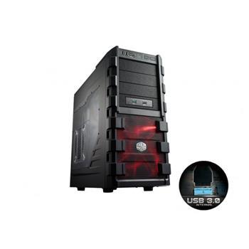 Cooler Master skříň miditower HAF 912 Advanced, ATX, USB3.0, bez zdroje, průhledná bočnice, black