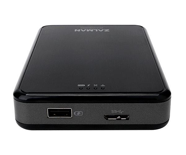 "Zalman externí wifi box / power banka ZM-WE450, 5200mAh, 2,5"" SATA, USB3.0, black"