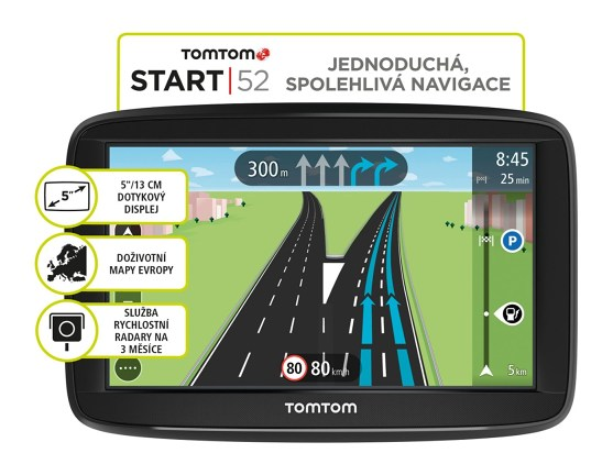 """TOMTOM START 52 Regional CEE LIFETIME mapy , 5"""" displej"""