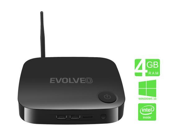 EVOLVEO WinPC X5, Quad Core Intel osobní počítač s Windows 10/Wifi/ BT/4GB/ 32GB eMMC/Win10