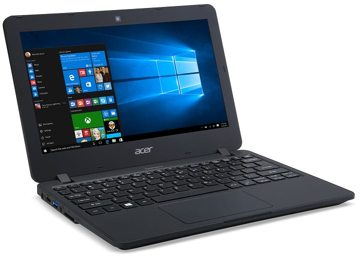 "Acer TravelMate TMB117-M-C877 Celeron N3160/4GB+N/500GB+N/HD Graphics/11,6"" HD/W 10 Prof/Matte Black"