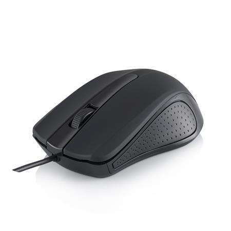 Modecom MC-M9 drátová optická myš, 3 tlačítka, 1000 DPI, USB, OEM bez loga, černá
