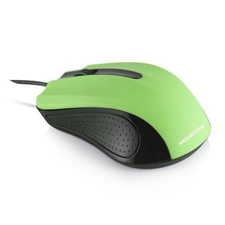 Modecom MC-M9 drátová optická myš, 3 tlačítka, 1000 DPI, USB, zelená