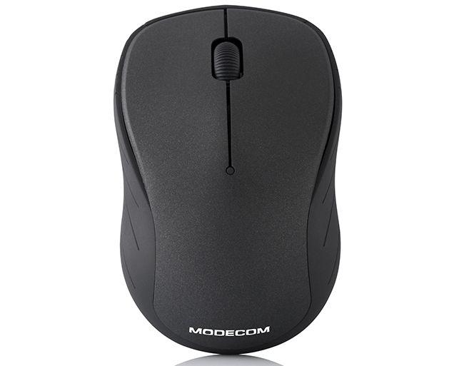 Modecom MC-WM7 bezdrátová optická myš, 3 tlačítka, 1600 DPI, USB nano 2,4 GHz, černá