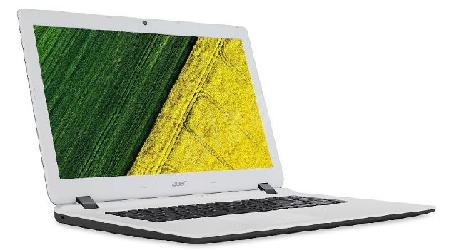 Acer Aspire ES17 (ES1-732-C9WF) Celeron N3450/4GB+ N/A/1TB+N/DVDRW/HD Graphics/17.3 HD+ LED lesklý/BT/W10 Home/Black/White