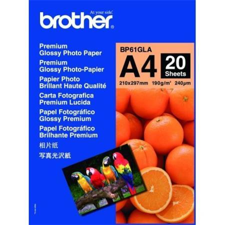 Brother - fotopapíry premium BP61GLA A4 20 ks