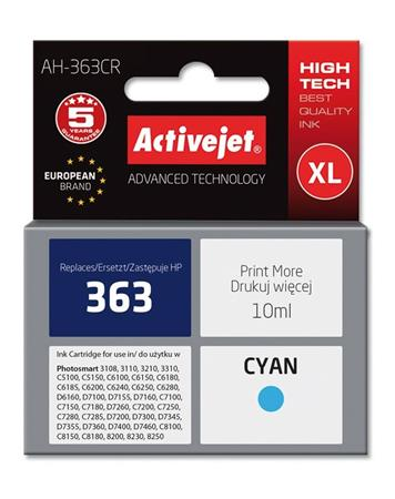 ActiveJet Ink cartridge HP 8771 Cyan ref. no363 - 10 ml AH-771