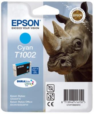 EPSON cartridge T1002 cyan (nosorožec)