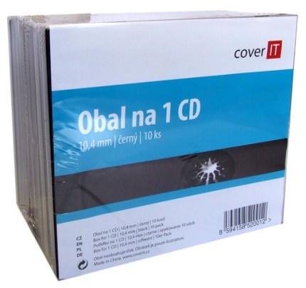 COVER IT box: 1 CD jewel box + tray 10pck/BAL