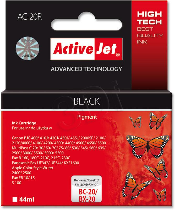 ActiveJet Ink cartridge Canon BC/BX-20 Bk ref. - 30 ml ACX-20