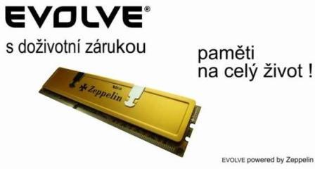EVOLVEO by Zeppelin DDR 2GB 400MHz (KIT 2x1GB) EVOLVEO GOLD (s chladičem, box), CL3 - testováno pro DualChannel (doživotní záruka)